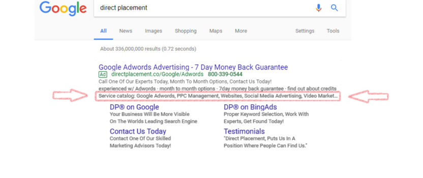 Ad Extension Series – What is a Structured Snippet Extension?