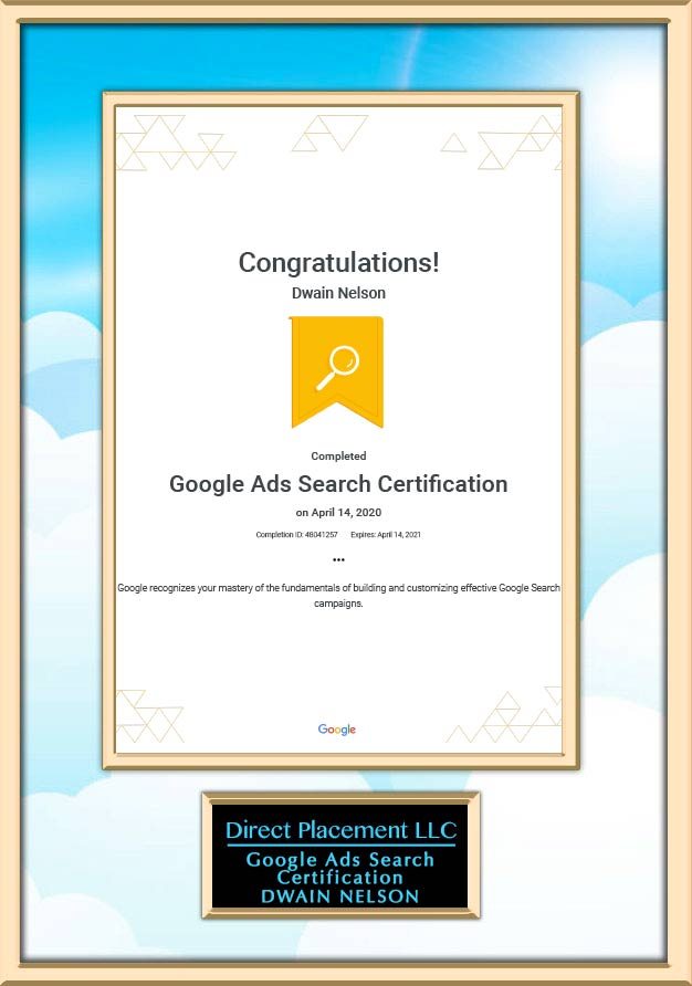 Google Search certifications